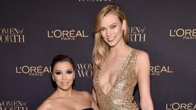 Eva Longoria i Karlie Kloss na gali L'Oreal. Aktorkę i modelkę dzieli 30 centymetrów!