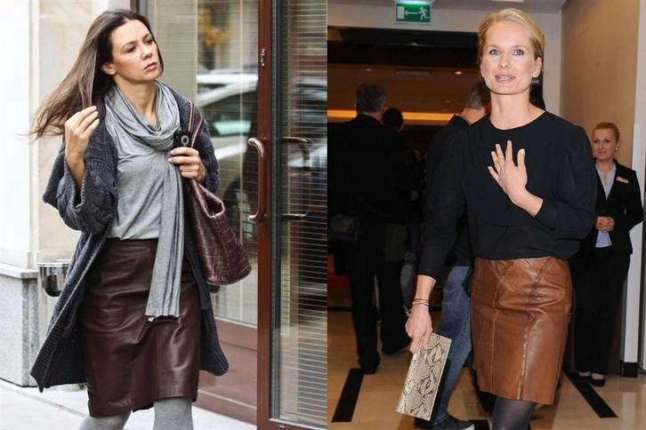 Która celebrytka wygląda lepiej w skórzanej spódnicy?