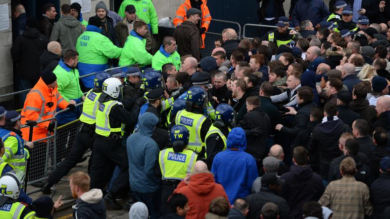 A Tottenham-szurkolók összecsaptak a rendőrökkel/Fotó: AFP