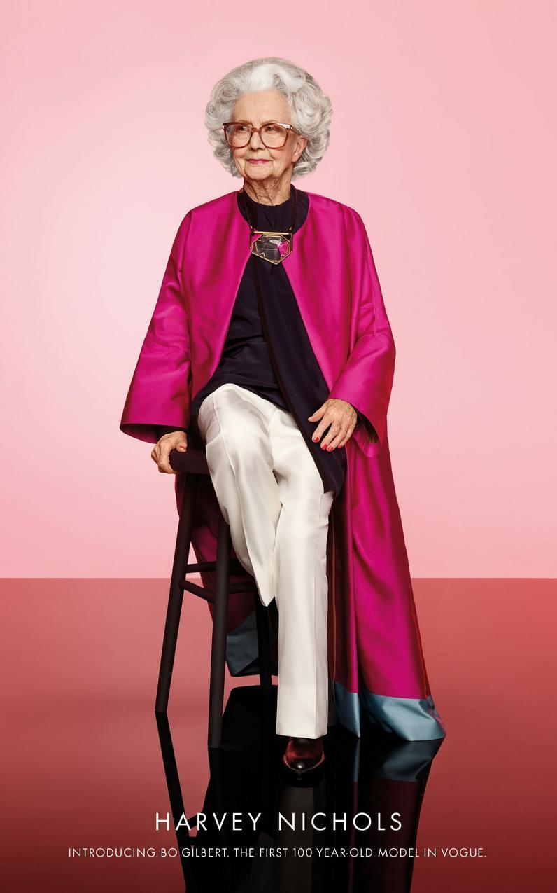 100-letnia modelks Bo Gilbert
