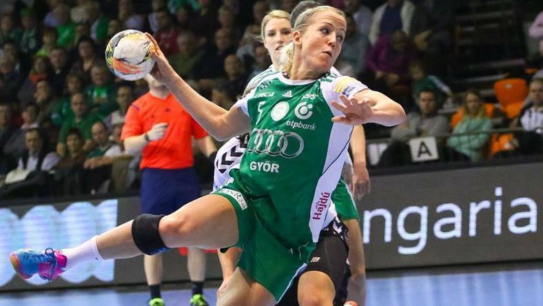 Heidi Löke szereti a győri sportcsarnok atmoszféráját /Fotó: Facebook/Győri Audi ETO KC