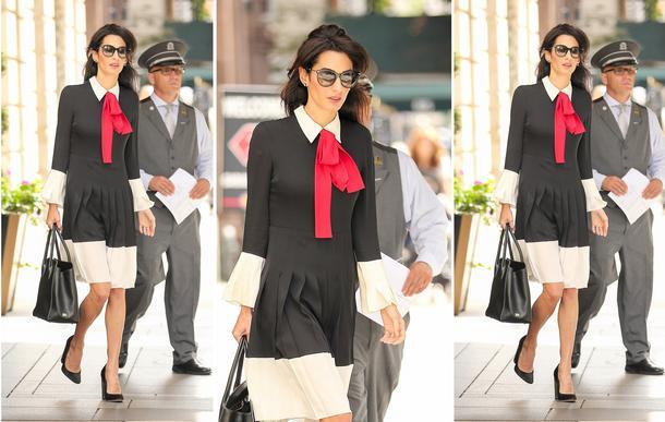 Best look: Amal Clooney w sukience Gucci