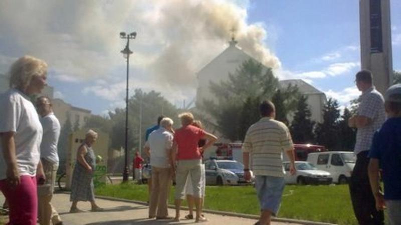 Pożar kościóła p.w. Chrystusa Króla na Targówku