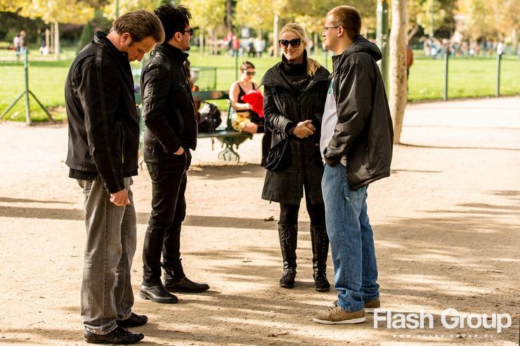 Micha� Wi�niewski w Pary�u na planie nowego teledysku (fot. My Music)