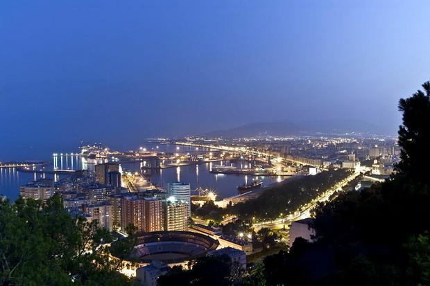 Malaga, widok z Gibralfaro