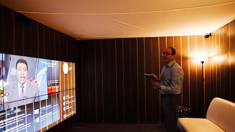Interaktywna ściana zamiast telewizora