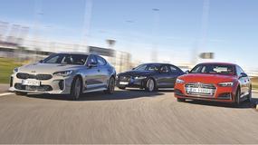 Kia Stinger GT kontra Audi S5 Sportback i Jaguar XE S - Kia wśród wyższych sfer