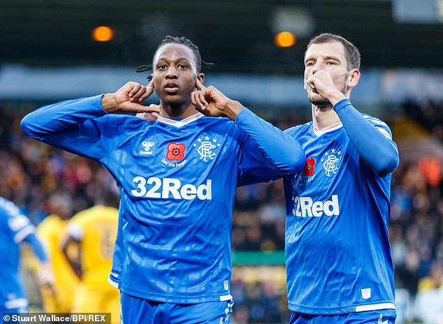 Joe Aribo scored his first goal for Rangers in Scotland  (Stuart Wallace/BPI/REX)