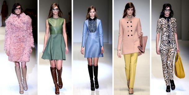 Gucci jesień – zima 2014: londyńskie inspiracje, dziewczęce sukienki i... dżinsy!
