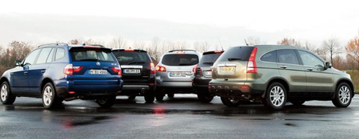 Chevrolet captiva hyundai santa fe honda cr v toyota for Honda cr v vs bmw x3