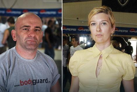 "Instruktor Borislav Ćosić, Vlasnica škole ""Bodygard"" Ivana Nikolić"