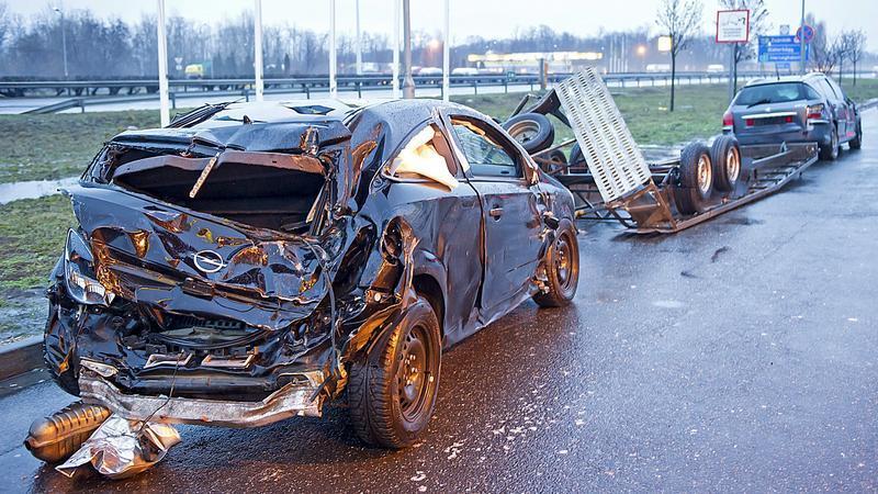M1 baleset / fotó: MTI Lakatos Péter