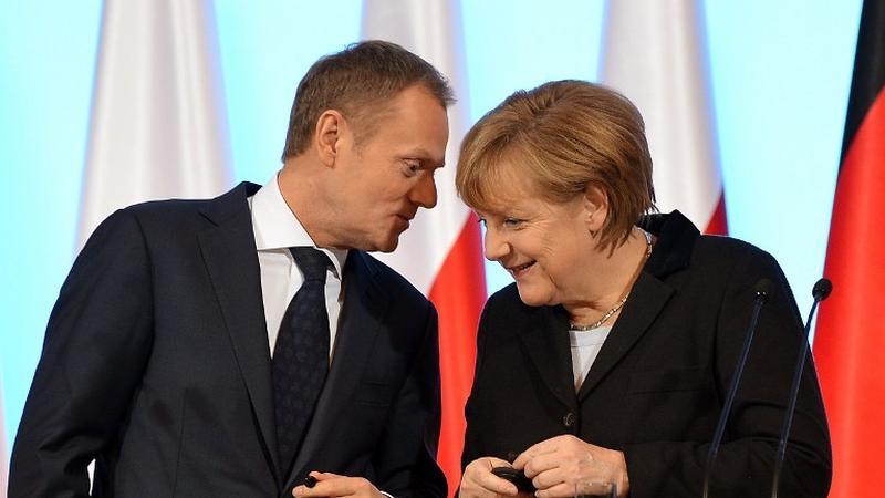 Donald Tusk i Angela Merkel, fot. AFP