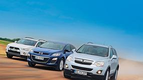 Mitsubishi Outlander kontra Mazda CX-7 i Opel Antara: SUV-y bardzo rodzinne