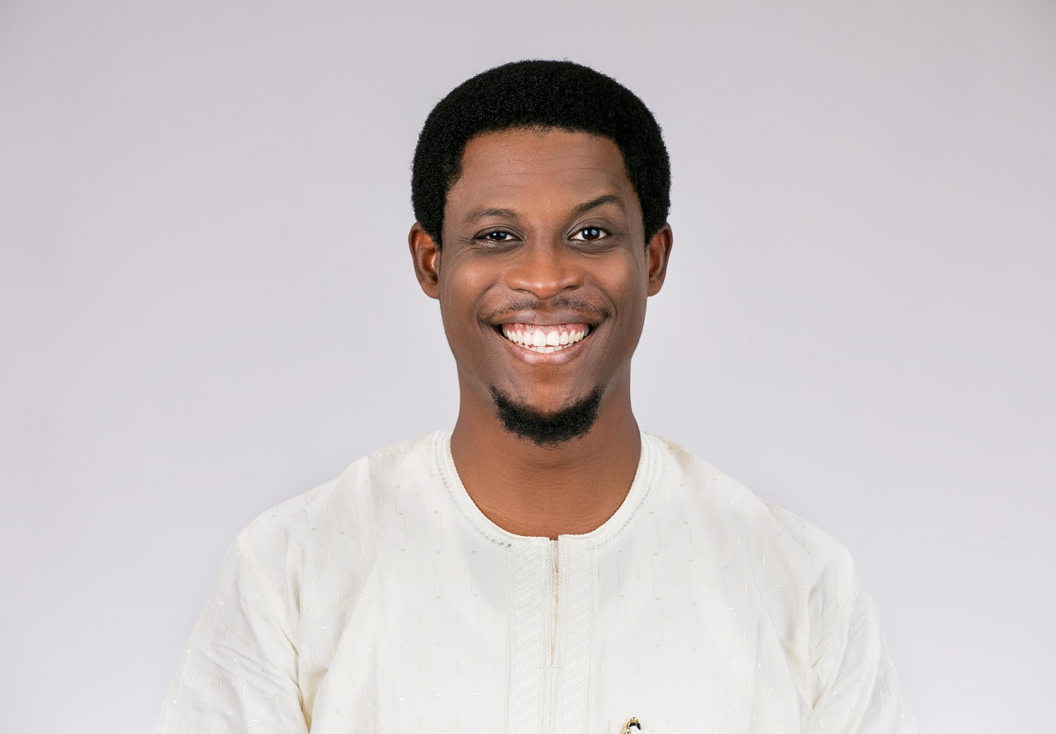 Seyi Awolowo was pranked by Ebuka during the third BBNaija eviction show on Sunday, July 21, 2019. [Multichoice NG]