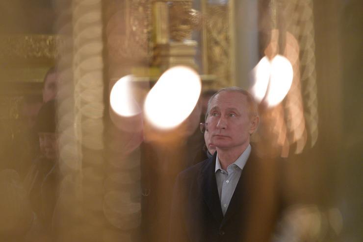 Putyin megmártózott a jeges vízben / Fotó: Northfoto- Kreml/Alekszej Druzsinyin