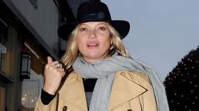 Kate Moss w drodze na lunch. Trudno ją rozpoznać