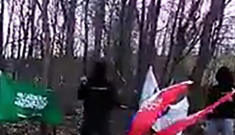 """JEZIV SNIMAK IZ BiH Islamisti pale zastavu Srbije uz pesmu """"Tigrovi Bosne"""""""