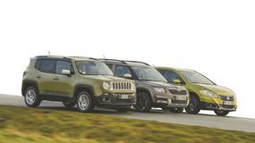 Porównanie - Jeep Renegade, Skoda Yeti, Suzuki SX4 S-Cross