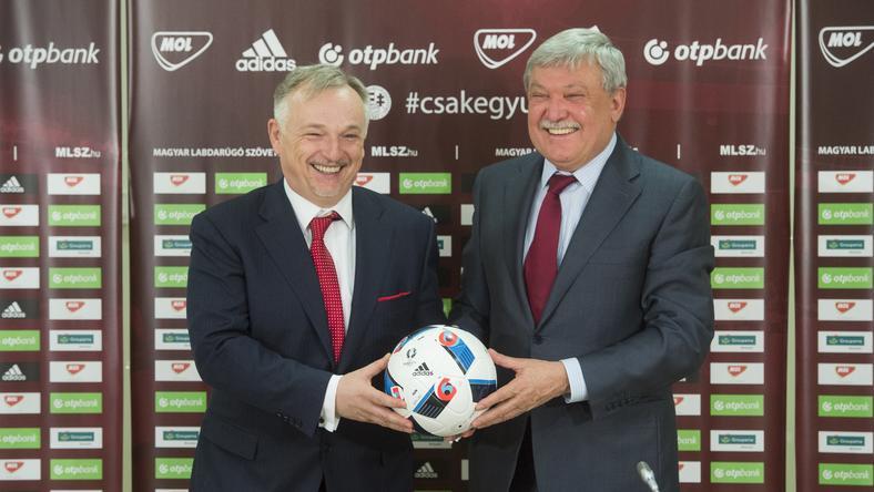 Hernádi Zsolt Mol-vezér és Csányi Sándor MLSZ-elnök jelentette be a megállapodást /Fotó: mlsz.hu