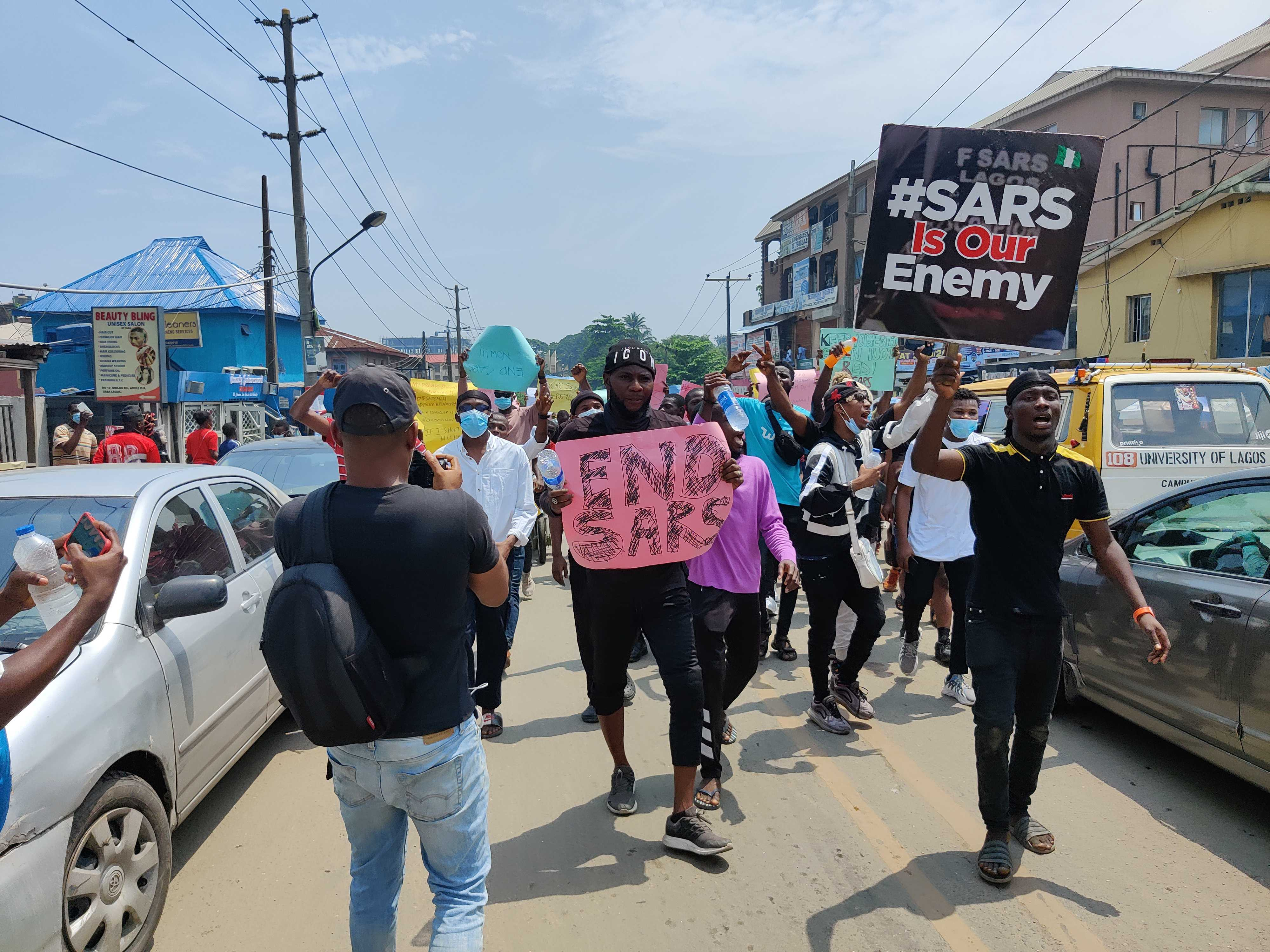 #EndSARS protesters in Lagos [Pulse]