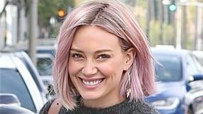 Hilary Duff w fioletowych włosach