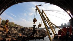 Most wydobyty z dna Wisły