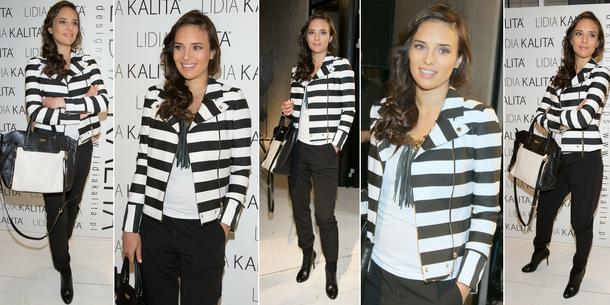 Best Look: Anna Czartoryska w pasiastym żakiecie Guess