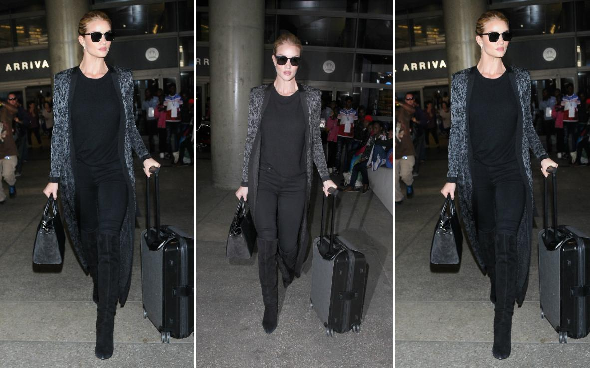 Rosie Huntington-Whiteley na lotnisku LAX