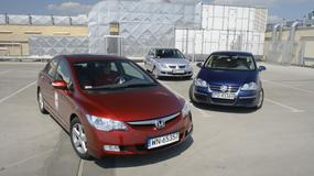 Honda Civic, Mitsubishi Lancer, VW Jetta -  niby takie same, a jednak inne