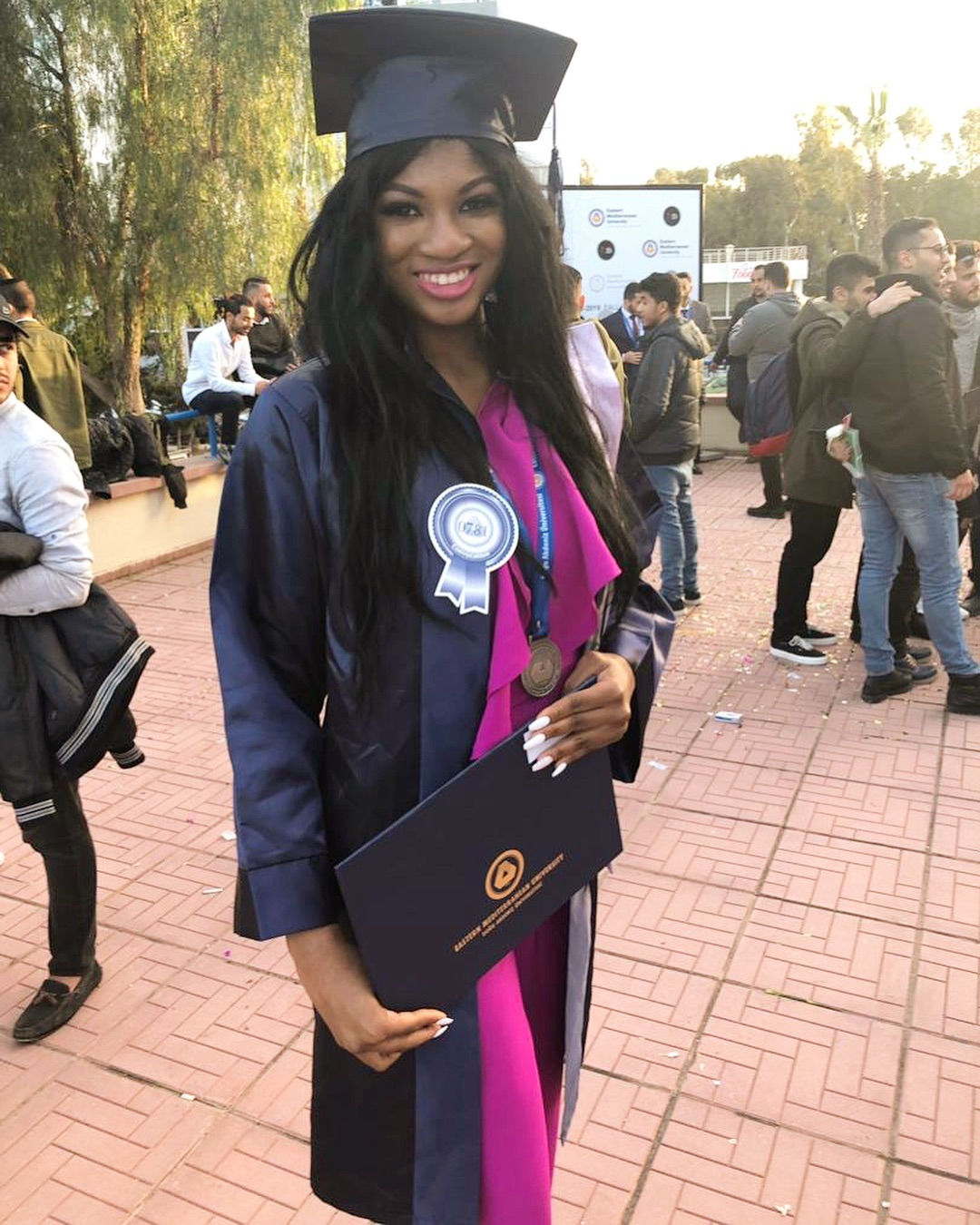 d9a6a91d176576dc62673f753084879a - Omotola Jalade-Ekeinde can't keep calm as daughter bags 2 degrees at 19