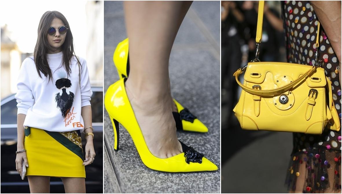 Ubrania i dodatki w żółtym kolorze