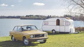 Volvo 142 DL - wakacje z przyczepką