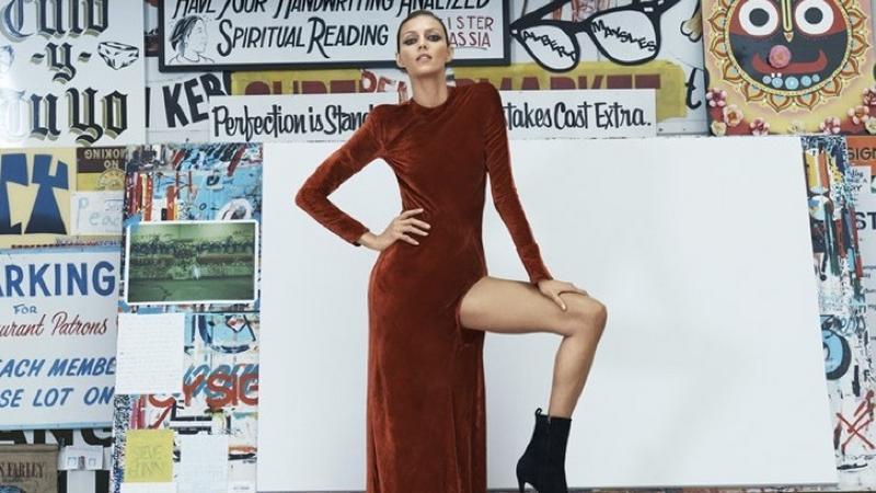 Anja Rubik w magazynie Bergdorf Goodman
