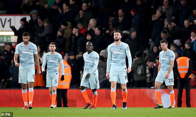 Chelsea suffered a shock home defeat to Bournemouth [PA]