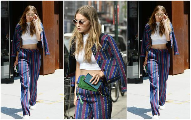 Best Look: Gigi Hadid w garniturze Tommy Hilfiger