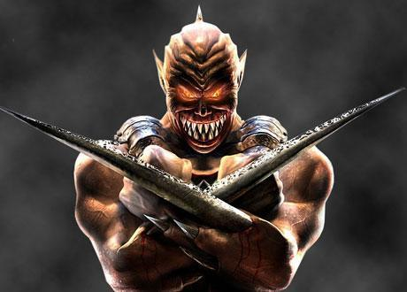 <P>12. Baraka (seria Mortal Kombat)  </P>Jeden z najgroźniejszych wojowników w Mortal Kombat. Baraka pokonuje swoich przeciwników używając ostrych jak brzytwa sztyletów wystających z jego ramion.