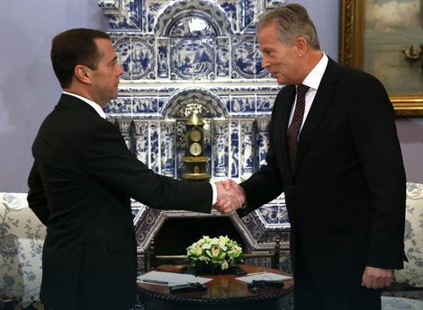 Rajnhold Miterlener i Dmitrij Medvedev