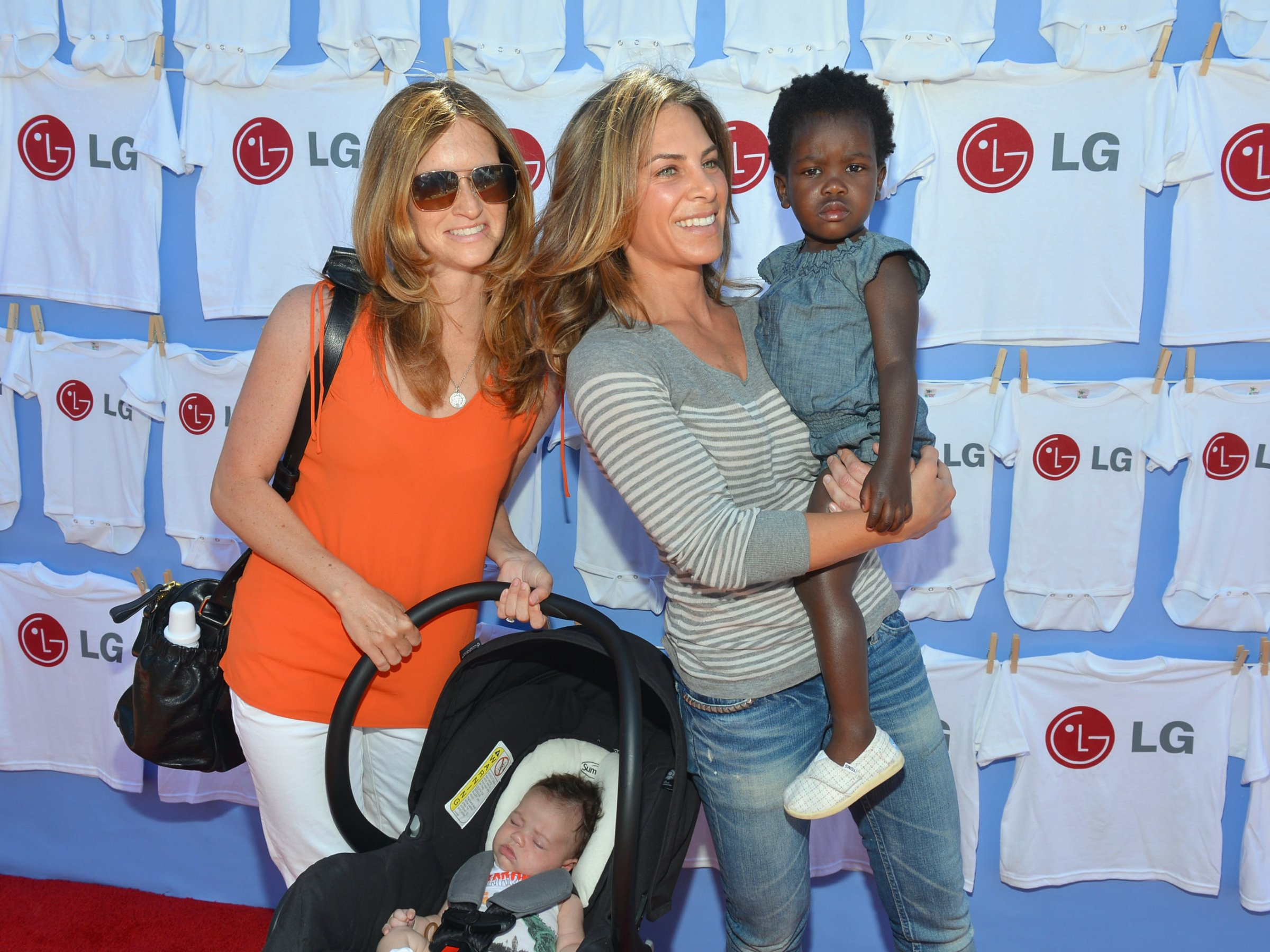 Jillian Michaels and family