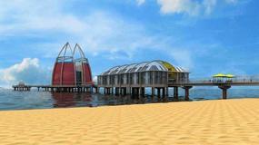 """Czy tak będzie wyglądać molo w Międzyzdrojach po przebudowie? Hotel, zanurzana gondola i """"plaża na morzu"""" za 120 mln zł"""