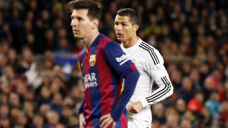 Lionel Messi (elöl) vagy Cristiano Ronaldo a jobb? /Fotó: AFP