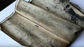 Podczas remontu XIX-wiecznego budynku, w zamurowanym kominie znaleziono 120-letni manuskrypt