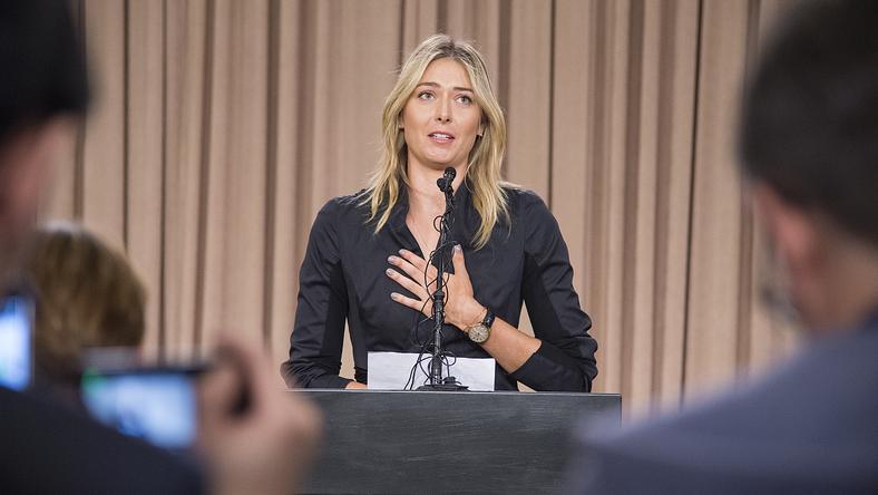 Marija Sarapova a héten bukott le/Fotó: AFP