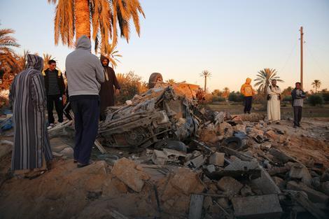 Posledice vazdušnih napada na Sabratu u Libiji