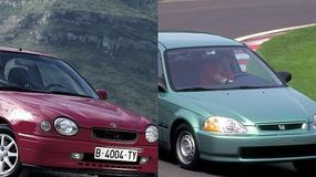 Porównanie: Toyota Corolla E11 vs. Honda Civic VI - trwałość ma swoją cenę!