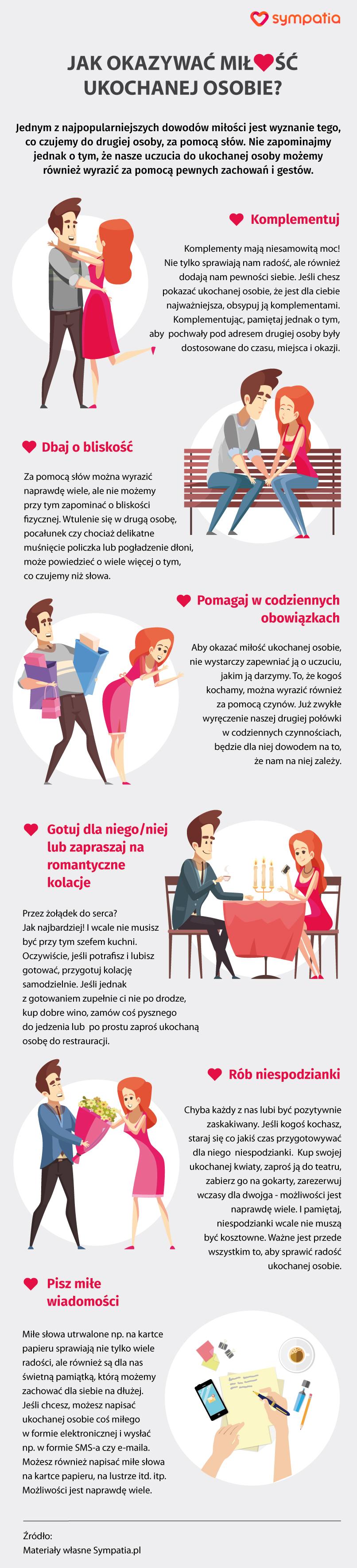 Jak Okazywać Miłość Ukochanej Osobie Infografika