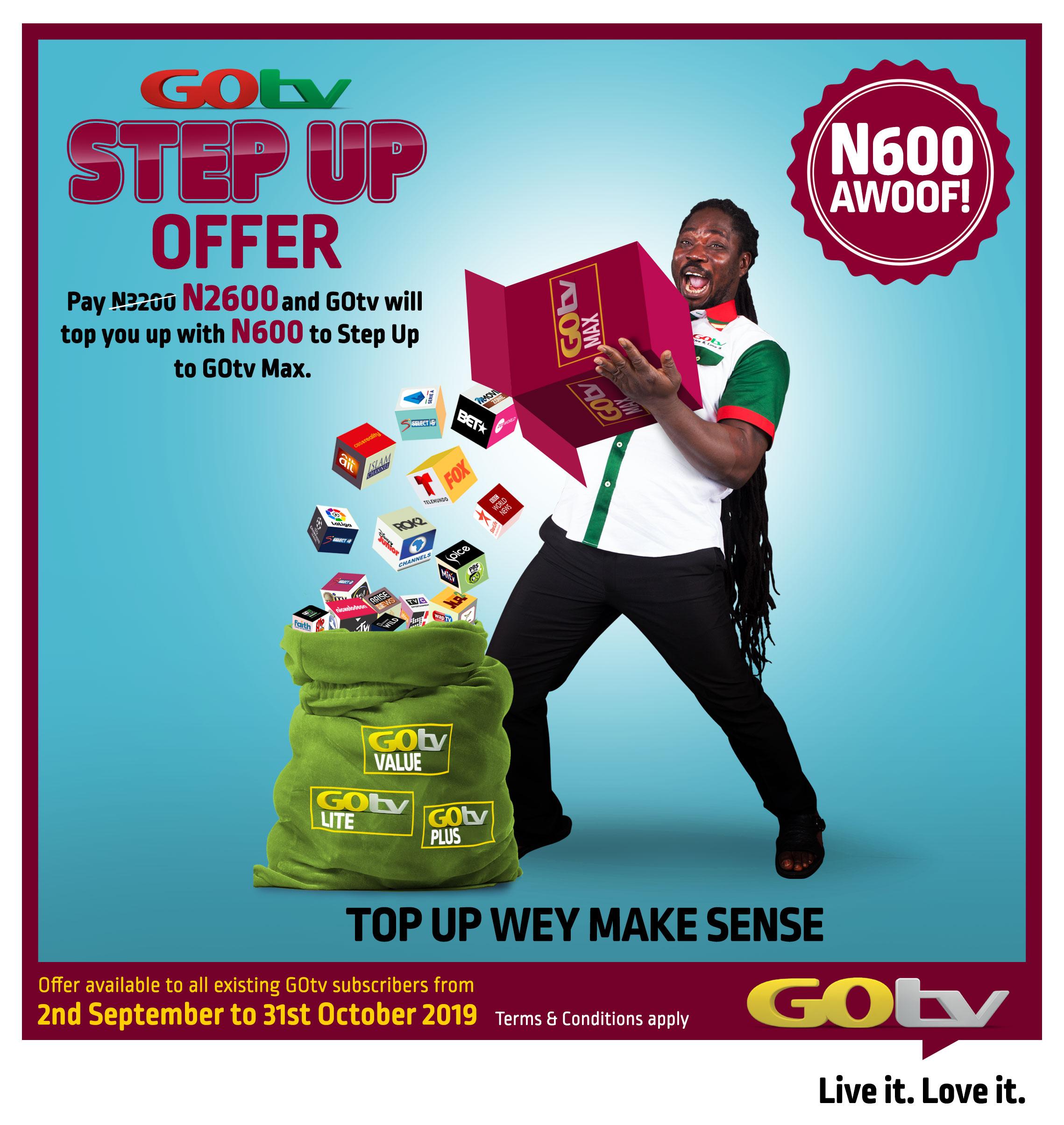 GOtv Step Up offer sm box