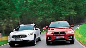 BMW X6 kontra Infiniti FX 30d: ślicznotki, czyli luksusowe suv-y