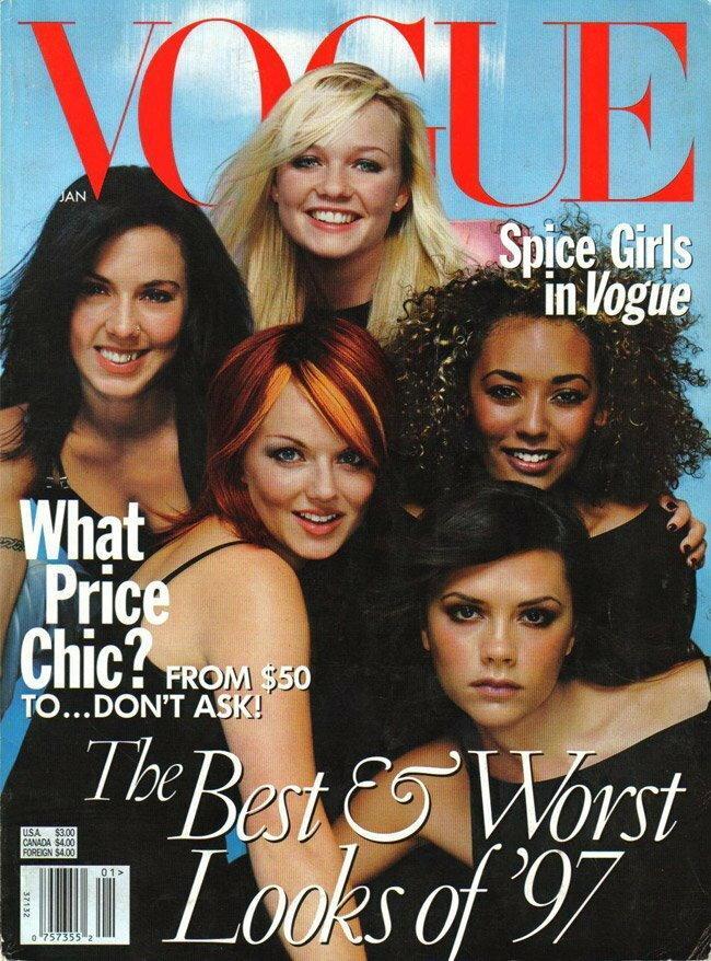 Spice Girls na okładce Vogue, styczeń 1998