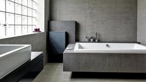 Surowa i minimalistyczna łazienka